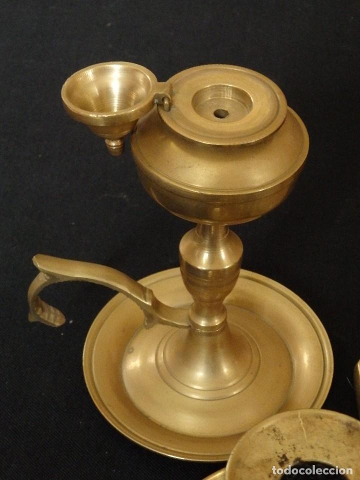 Antigüedades: Decorativo conjunto de utensilios para iluminar de los siglos XVII-XVIII-XIX. - Foto 5 - 120765803
