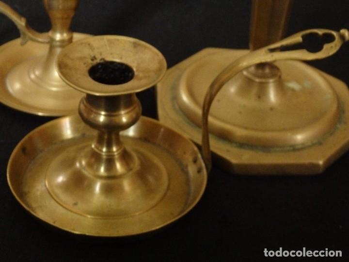 Antigüedades: Decorativo conjunto de utensilios para iluminar de los siglos XVII-XVIII-XIX. - Foto 6 - 120765803