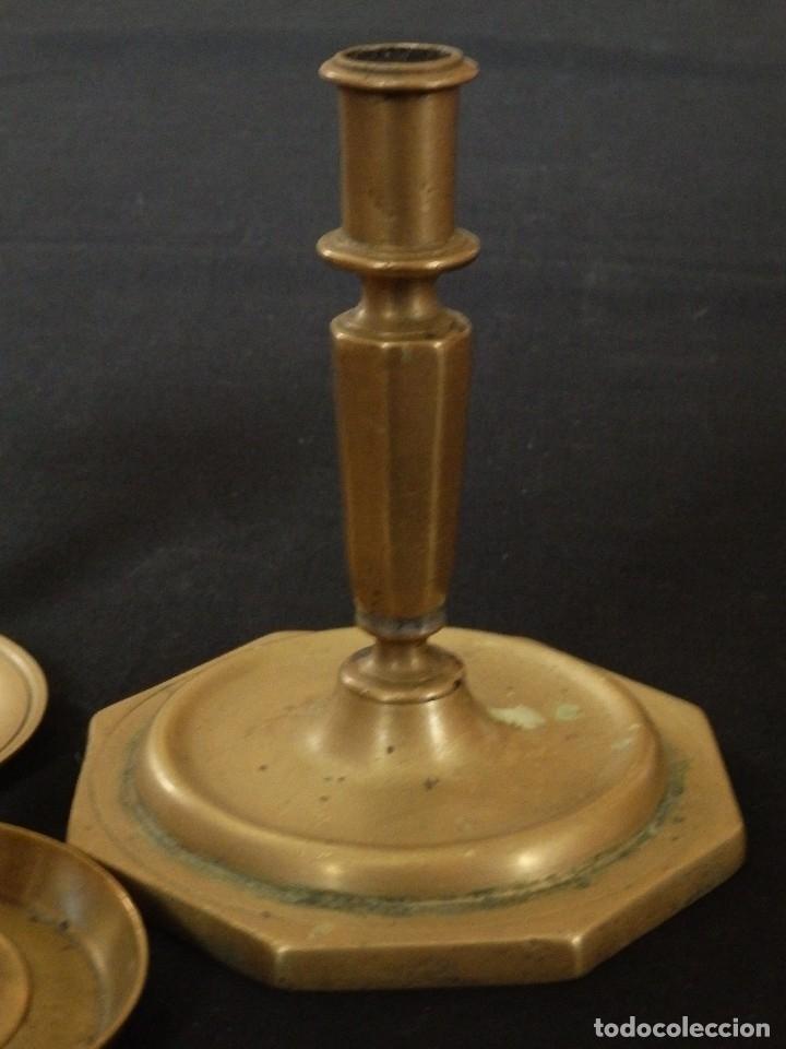 Antigüedades: Decorativo conjunto de utensilios para iluminar de los siglos XVII-XVIII-XIX. - Foto 7 - 120765803
