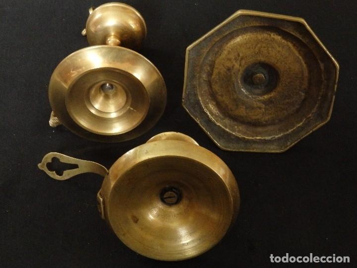Antigüedades: Decorativo conjunto de utensilios para iluminar de los siglos XVII-XVIII-XIX. - Foto 8 - 120765803