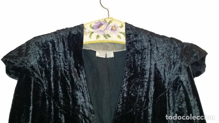 Antigüedades: Antiguo vestido de terciopelo Art Deco - americano - Foto 4 - 120767999