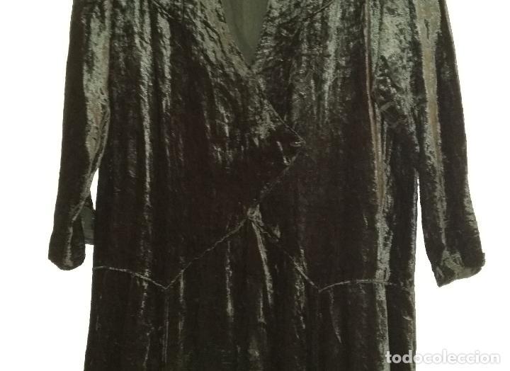Antigüedades: Antiguo vestido de terciopelo Art Deco - americano - Foto 5 - 120767999