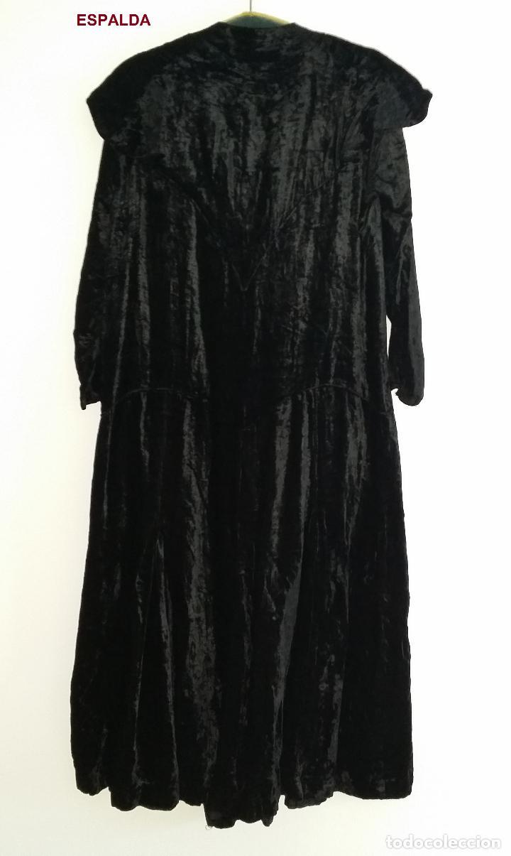 Antigüedades: Antiguo vestido de terciopelo Art Deco - americano - Foto 7 - 120767999