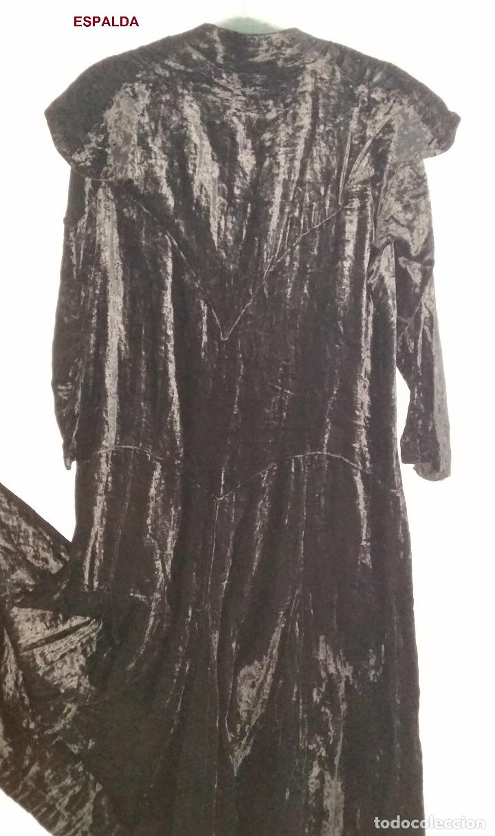 Antigüedades: Antiguo vestido de terciopelo Art Deco - americano - Foto 9 - 120767999