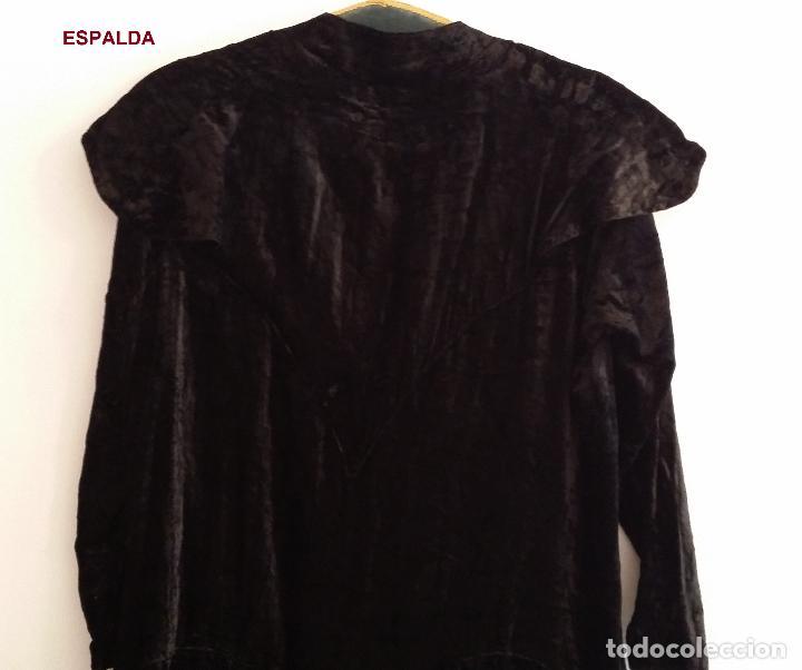 Antigüedades: Antiguo vestido de terciopelo Art Deco - americano - Foto 10 - 120767999
