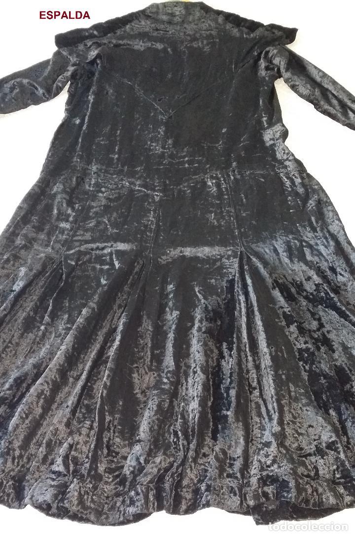 Antigüedades: Antiguo vestido de terciopelo Art Deco - americano - Foto 11 - 120767999