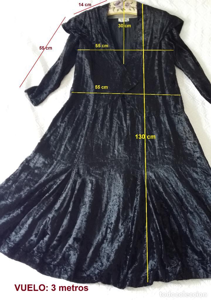 Antigüedades: Antiguo vestido de terciopelo Art Deco - americano - Foto 17 - 120767999