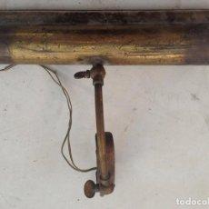 Antigüedades: LAMPARA BRONCE SOBREMESA ECLESIAL SUJECCION , NOTARIO, BANQUERO ,CAMAROTE BARCO, ATRIL IGLESIA. Lote 120777575