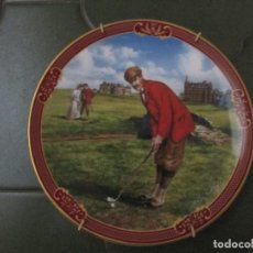 Antigüedades: PLATO COLECCION INGLESA ROYAL WORCESTER GOLFING COLLECTION 'THE CLUBHOUSE' BY MELVIN BUCKLEY. Lote 120791175