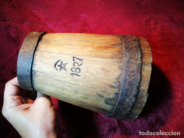 Antigüedades: MESURA-MEDIDA DE GRANO-ORIGINAL 1827-CON MARCAJE MADERA CASTAÑO.CELEMIN-CUARTERA-FANEGA - Foto 4 - 120794699