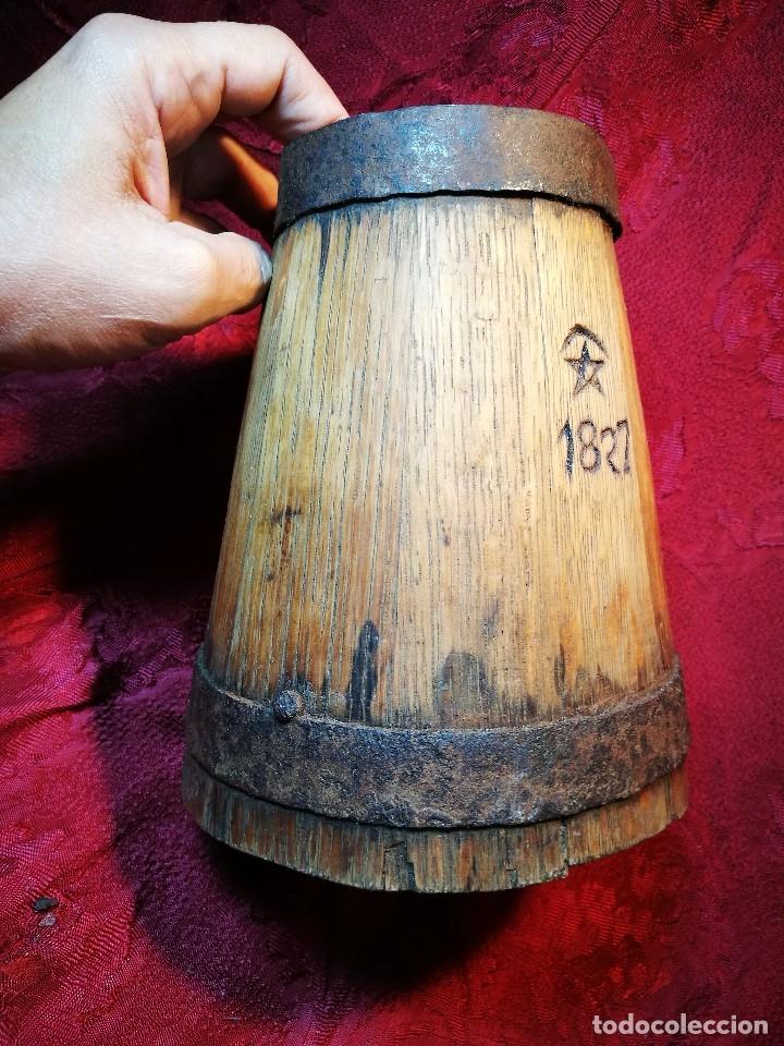 Antigüedades: MESURA-MEDIDA DE GRANO-ORIGINAL 1827-CON MARCAJE MADERA CASTAÑO.CELEMIN-CUARTERA-FANEGA - Foto 6 - 120794699
