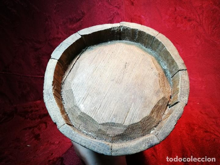 Antigüedades: MESURA-MEDIDA DE GRANO-ORIGINAL 1827-CON MARCAJE MADERA CASTAÑO.CELEMIN-CUARTERA-FANEGA - Foto 14 - 120794699
