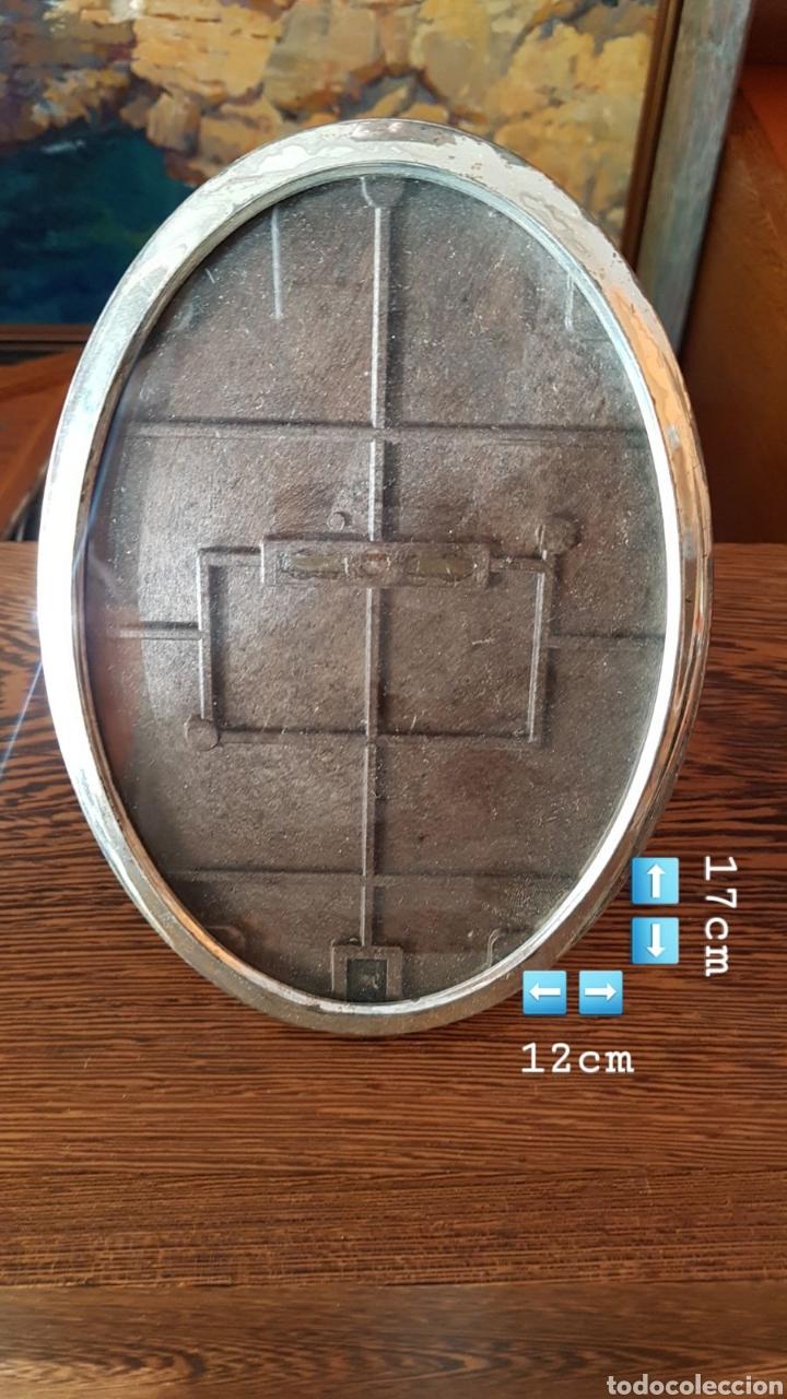MARCO PLATA DE LEY MACIZA. (Antigüedades - Platería - Plata de Ley Antigua)