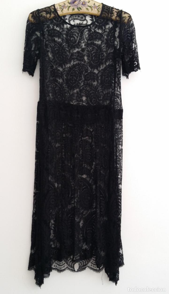 Antigüedades: Antiguo vestido de encaje Art Deco - Foto 2 - 120806119