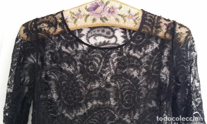Antigüedades: Antiguo vestido de encaje Art Deco - Foto 3 - 120806119