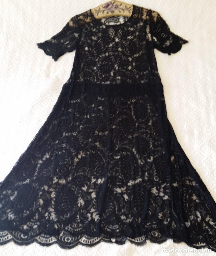 Antigüedades: Antiguo vestido de encaje Art Deco - Foto 6 - 120806119