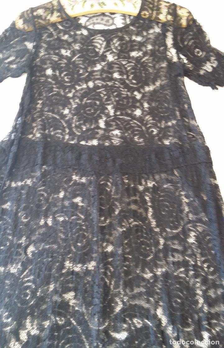 Antigüedades: Antiguo vestido de encaje Art Deco - Foto 7 - 120806119