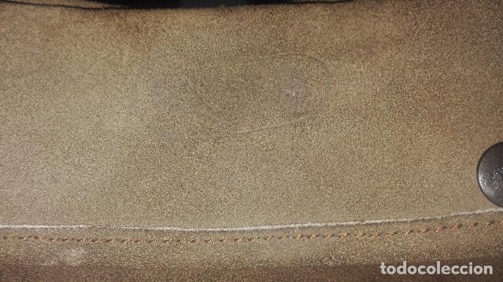 Antigüedades: funda-manoplas de piel. caza - Foto 2 - 120818035