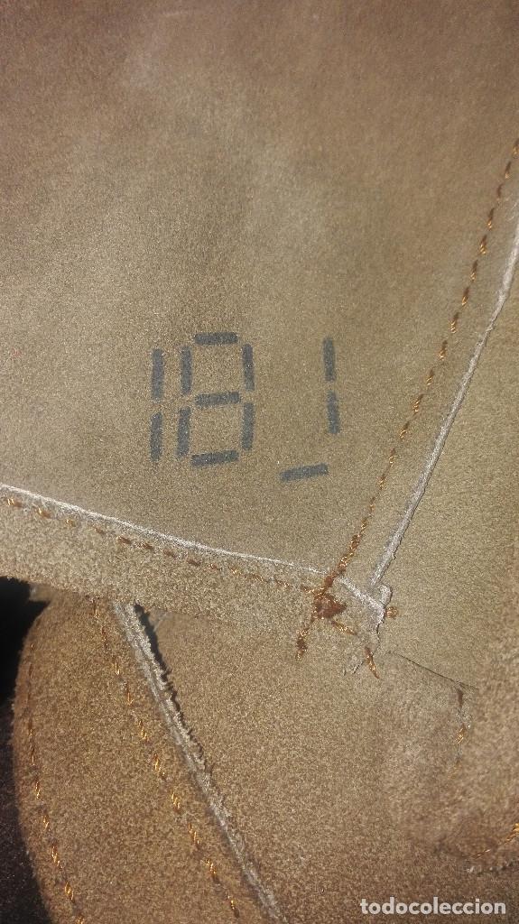 Antigüedades: funda-manoplas de piel. caza - Foto 4 - 120818035