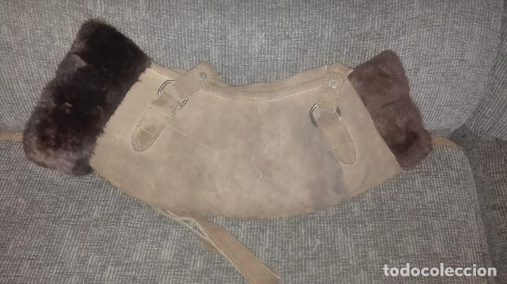 Antigüedades: funda-manoplas de piel. caza - Foto 5 - 120818035