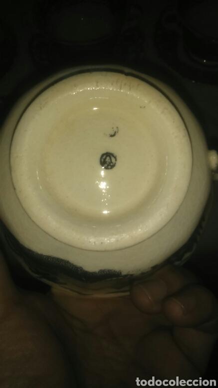 Antigüedades: Precioso lote consome Pickman porcelana sevillana La Cartuja. Muy antigua. - Foto 5 - 120826258