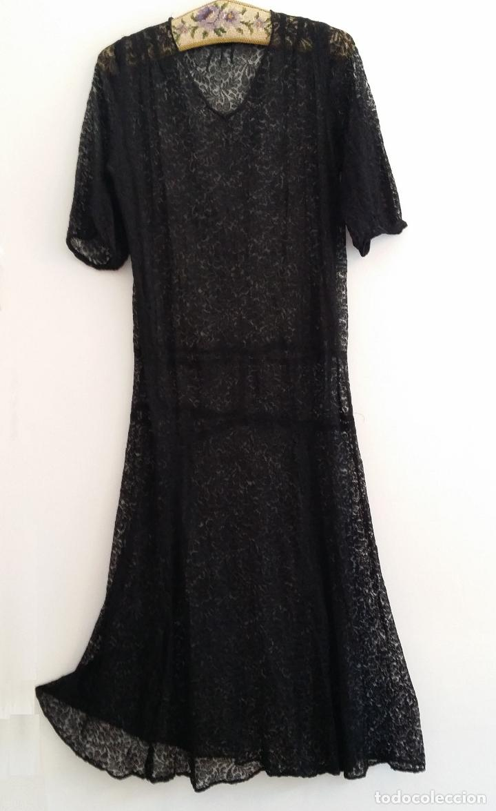 Antigüedades: Antiguo vestido de encaje Art Deco - Foto 3 - 120835371