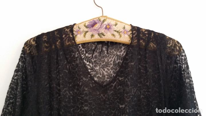 Antigüedades: Antiguo vestido de encaje Art Deco - Foto 4 - 120835371