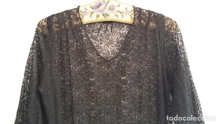 Antigüedades: Antiguo vestido de encaje Art Deco - Foto 5 - 120835371