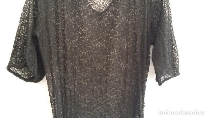 Antigüedades: Antiguo vestido de encaje Art Deco - Foto 6 - 120835371