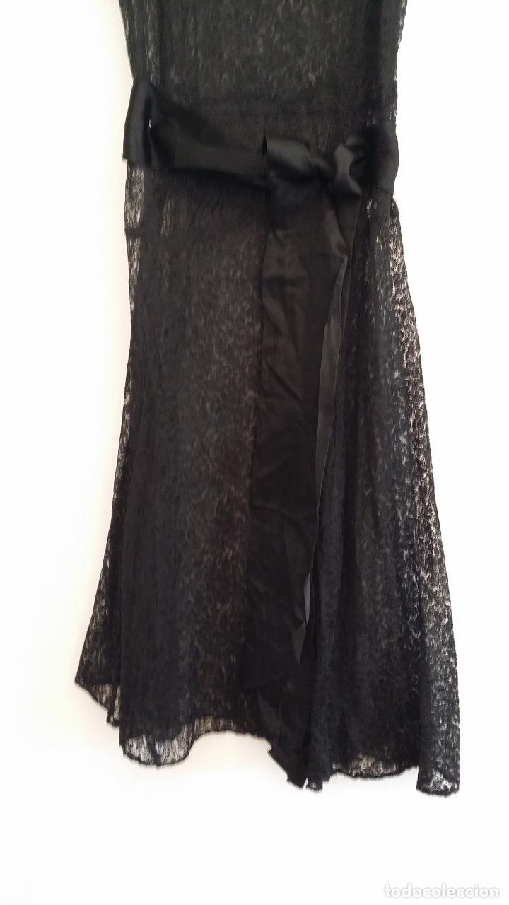Antigüedades: Antiguo vestido de encaje Art Deco - Foto 7 - 120835371