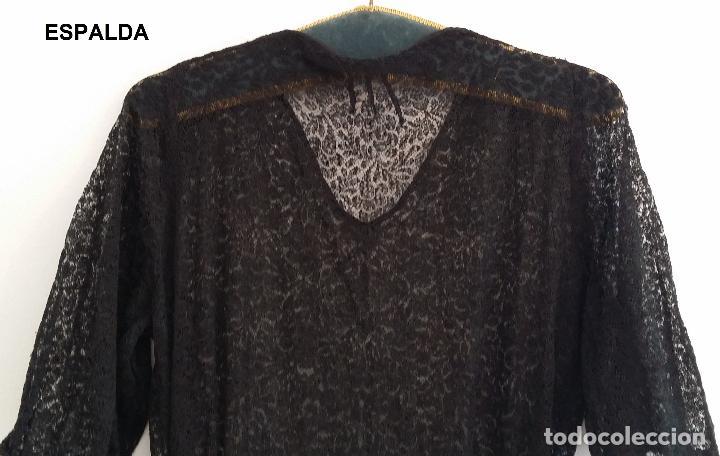 Antigüedades: Antiguo vestido de encaje Art Deco - Foto 8 - 120835371
