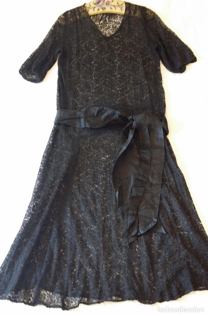 Antigüedades: Antiguo vestido de encaje Art Deco - Foto 9 - 120835371