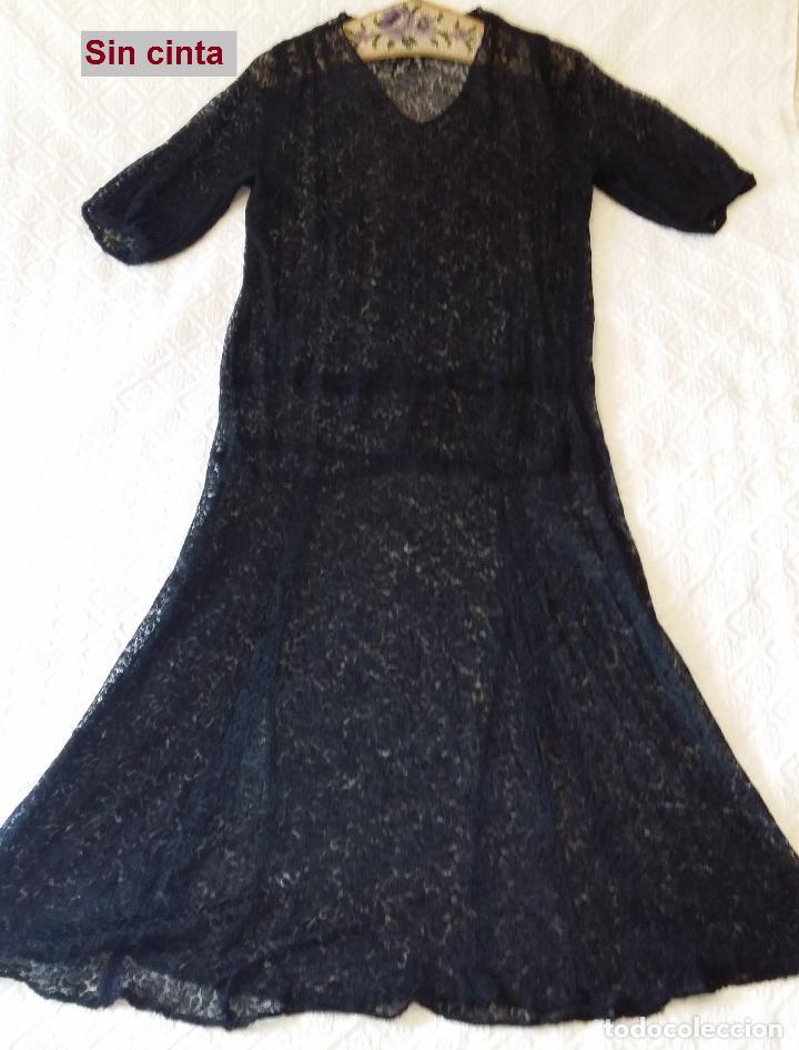 Antigüedades: Antiguo vestido de encaje Art Deco - Foto 10 - 120835371