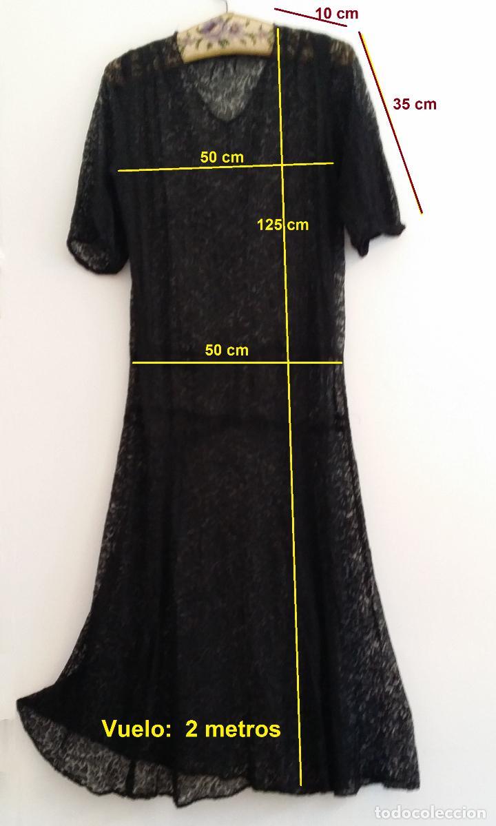 Antigüedades: Antiguo vestido de encaje Art Deco - Foto 14 - 120835371