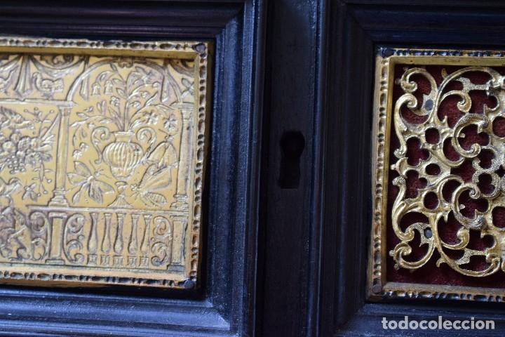 Antigüedades: MUEBLE BARGUEÑO ARQUILLA ESTILO FRANCES SIGLO XIX - Foto 22 - 111378023