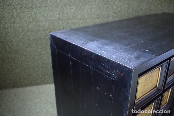 Antigüedades: MUEBLE BARGUEÑO ARQUILLA ESTILO FRANCES SIGLO XIX - Foto 28 - 111378023