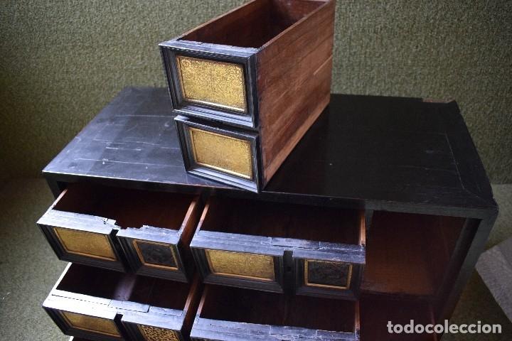 Antigüedades: MUEBLE BARGUEÑO ARQUILLA ESTILO FRANCES SIGLO XIX - Foto 34 - 111378023