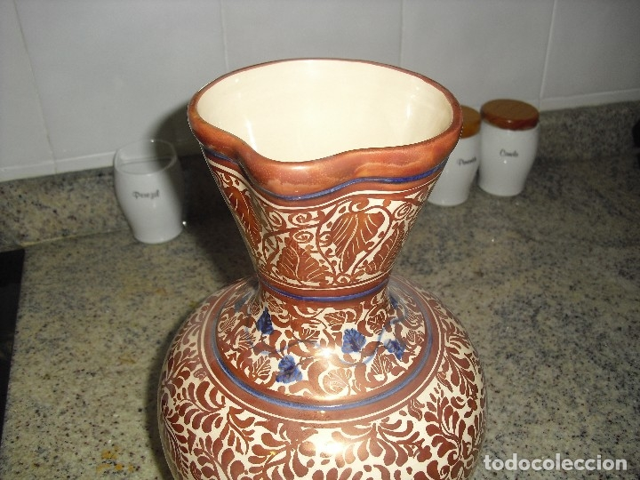 Antigüedades: JARRON MANISES REFLEJO METALICO DE GIMENO RIOS - Foto 3 - 120849559