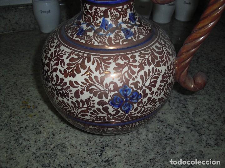 Antigüedades: JARRON MANISES REFLEJO METALICO DE GIMENO RIOS - Foto 4 - 120849559