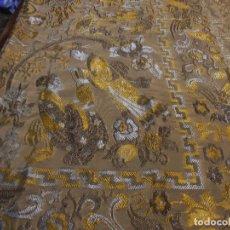 Antigüedades: COLCHA CON DIBUJOS CHINESES. Lote 120858527