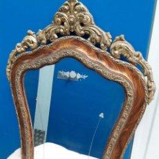 Antigüedades: ESPEJO ANTIGUO ESTILO CORNUCOPIA PAN DE ORO. Lote 120860031