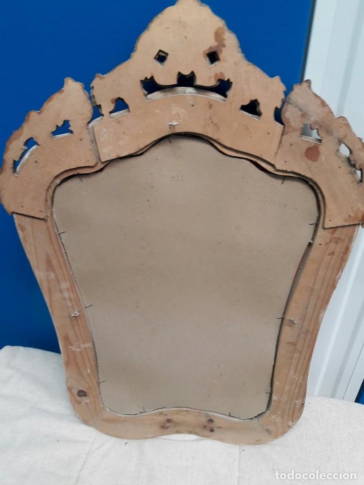 Antigüedades: Espejo antiguo estilo Cornucopia Pan de Oro - Foto 2 - 120860031