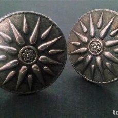Antigüedades: ANTIGUOS GEMELOS GRANDES EN PLATA CON MARCAJE 925, EN PERFECTO ESTADO. S XX. Lote 120862547