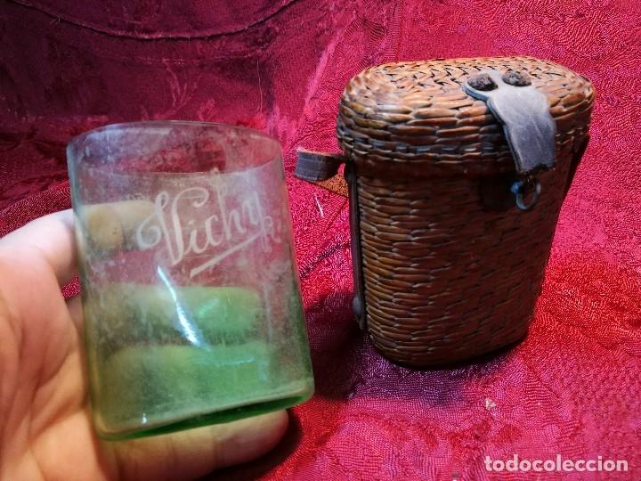 Antigüedades: vaso de petaca o faltriquera de balneario VICHY CALDES DE MALAVELLA...GIRONA ..Modelo siglo XIX - Foto 3 - 120919427