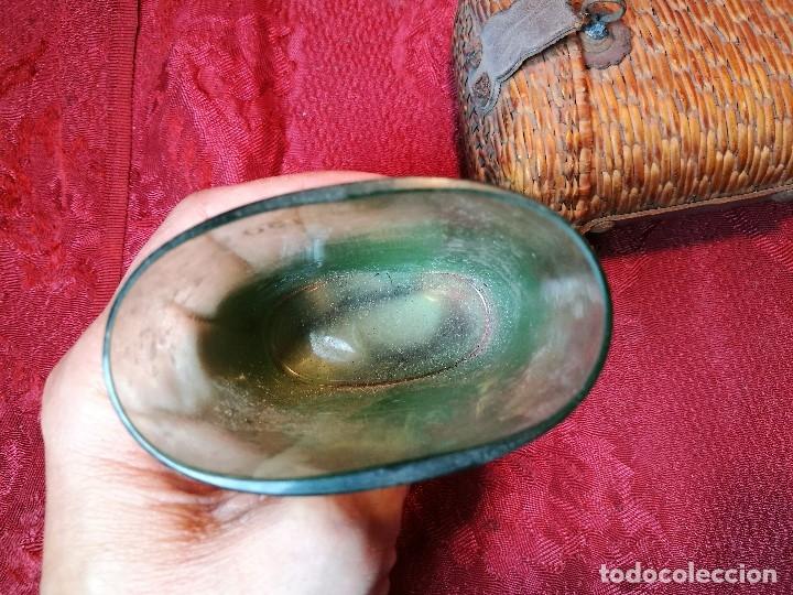 Antigüedades: vaso de petaca o faltriquera de balneario VICHY CALDES DE MALAVELLA...GIRONA ..Modelo siglo XIX - Foto 6 - 120919427