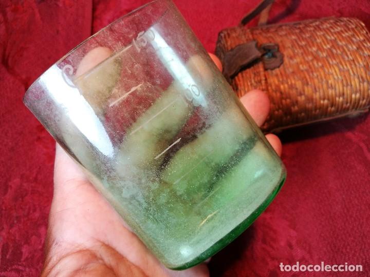 Antigüedades: vaso de petaca o faltriquera de balneario VICHY CALDES DE MALAVELLA...GIRONA ..Modelo siglo XIX - Foto 7 - 120919427