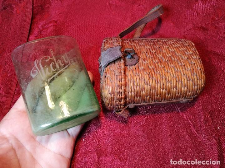 Antigüedades: vaso de petaca o faltriquera de balneario VICHY CALDES DE MALAVELLA...GIRONA ..Modelo siglo XIX - Foto 12 - 120919427