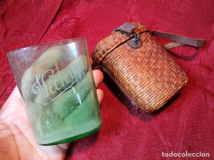Antigüedades: vaso de petaca o faltriquera de balneario VICHY CALDES DE MALAVELLA...GIRONA ..Modelo siglo XIX - Foto 13 - 120919427