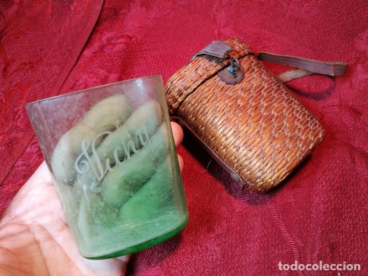 Antigüedades: vaso de petaca o faltriquera de balneario VICHY CALDES DE MALAVELLA...GIRONA ..Modelo siglo XIX - Foto 14 - 120919427