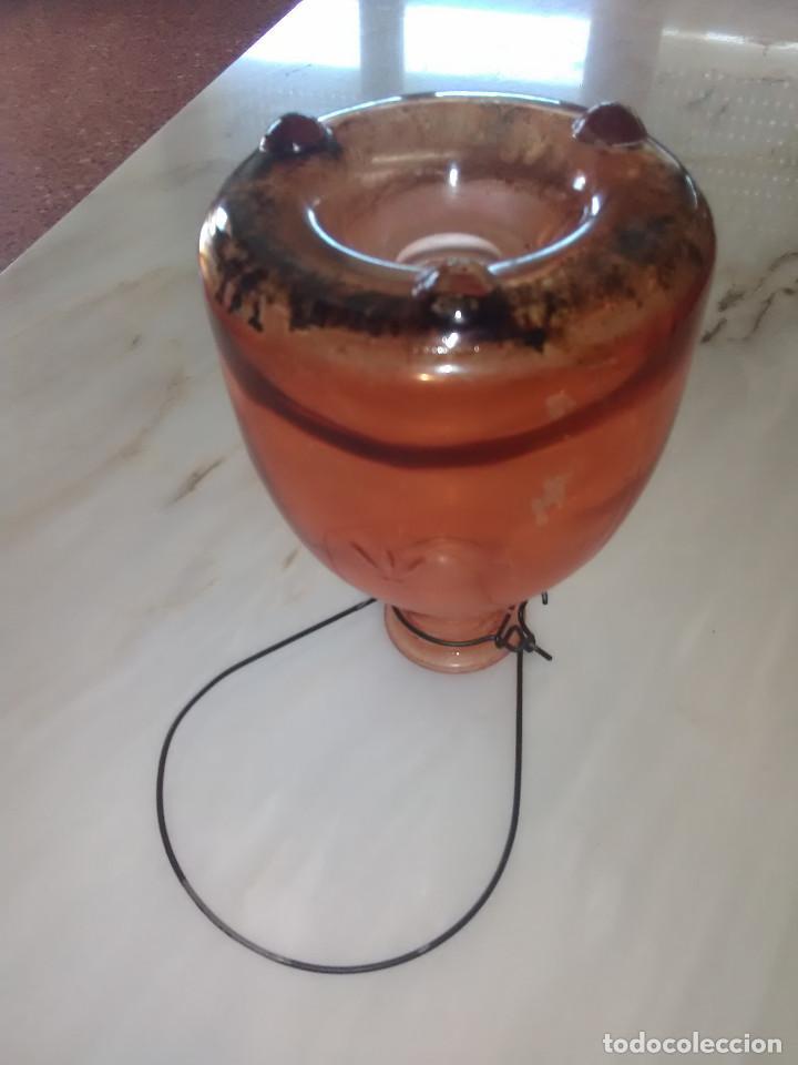 Antigüedades: Jarra-botella atrapamoscas de color - Foto 2 - 120925515